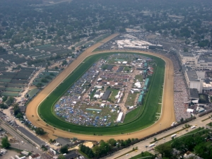 Kentucky Derby Racecourse Aerial Shot