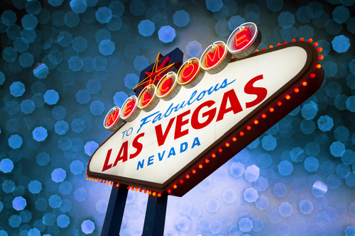 The famed neon Las Vegas welcome sign.