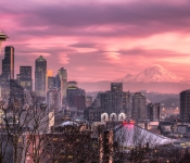 Seattle Skyline Sunset