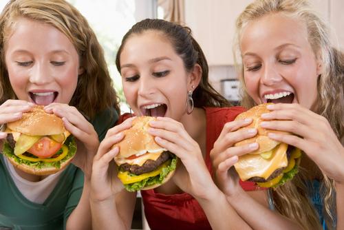Classic American hamburger