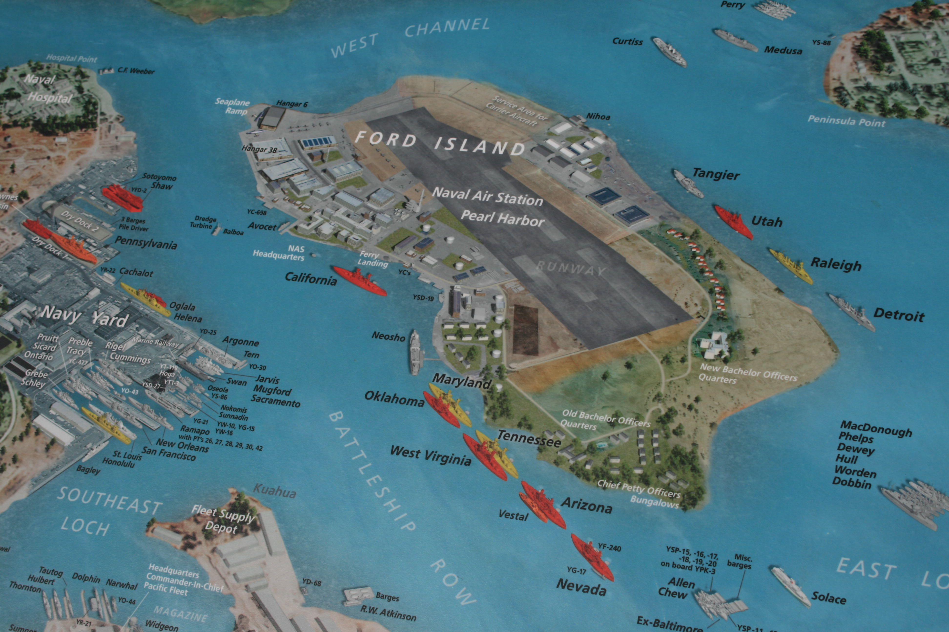 Map Of Pearl Harbour US Naval Fleet More Than Route USA - Us navy fleet map