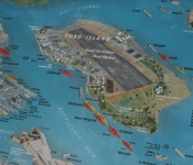 Map of Pearl Harbour US Naval Fleet