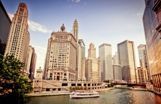 Chicago Skyline from River