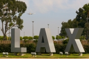 Los Angeles Airport LAX Sign