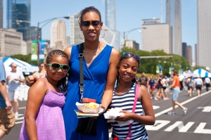 Enjoying the food stalls. Photo Credit: City of Chicago