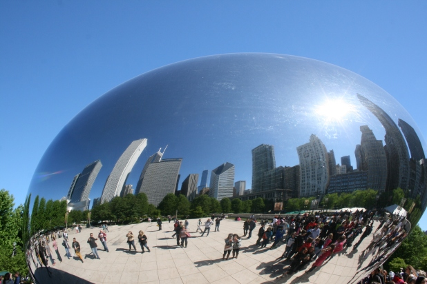 Showing the 'Bean' as a whole; construction was between 2004-2006. Almost a giant snow-dome. Image: Jason Dutton-Smith