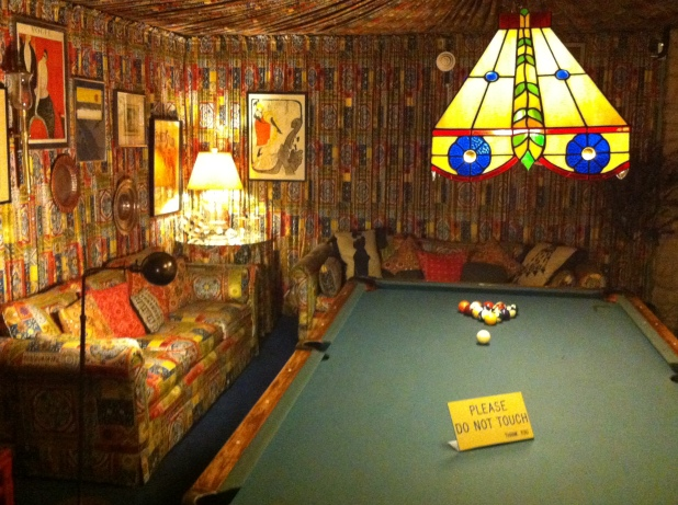 Pool room with fabric walls and ceiling - Photo credit Jason Dutton-Smith