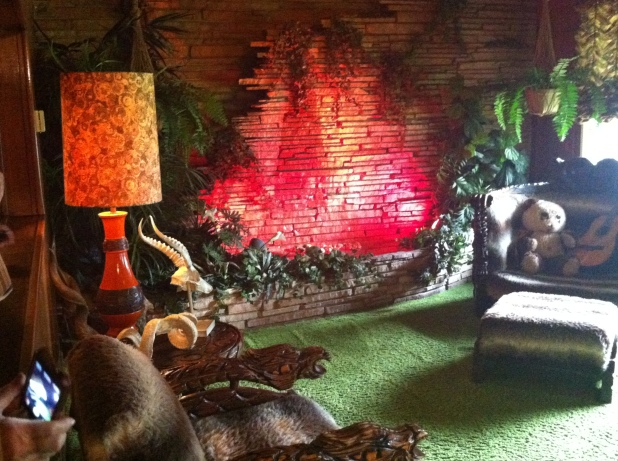 The Jungle Room complete with carpet ceilings - Photo credit Jason Dutton-Smith