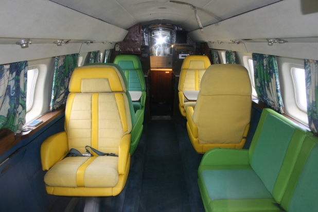 Interior of smaller of the two private jets - Photo credit Jason Dutton-Smith