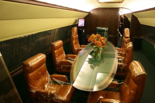 Private jet dining area - Photo credit Jason Dutton-Smith