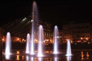 Wausau 400 Block Fountains - Image courtesy of Wausau Convention and Visitors Bureau