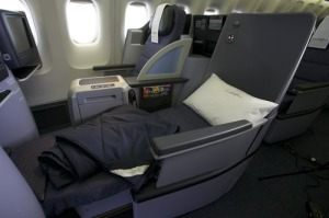 United Airlines Business First Seat