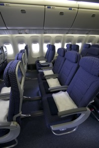 Typical international Economy Plus seating as shown on the 787