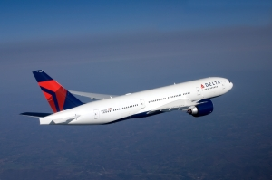 Delta Airlines 777 in-flight