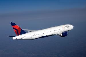 Delta Airlines 777 in-flight