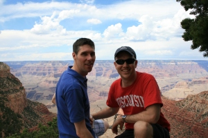 Todd and I on the edge of the Grand Canyon