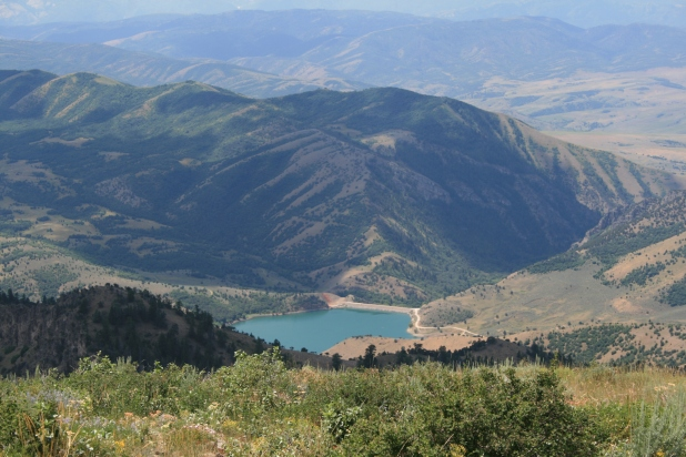 Looking down to Porcupine Reservoir.