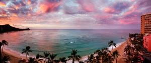 Waikiki Beach at Sunset
