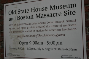 Old State House entrance plaque