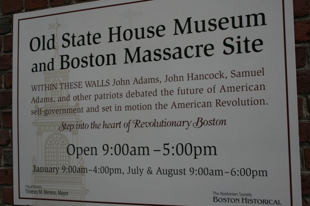 Old State House Plaque