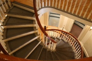 Spiral staircase at entrance of Old State House