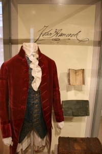 John Hancock's suit, note book, satchel and chest