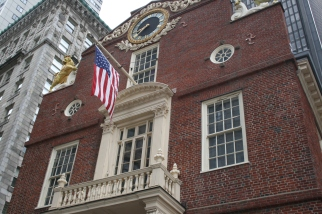 Balcony of Old State House Boston