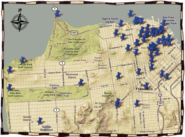 Tales of the City locations