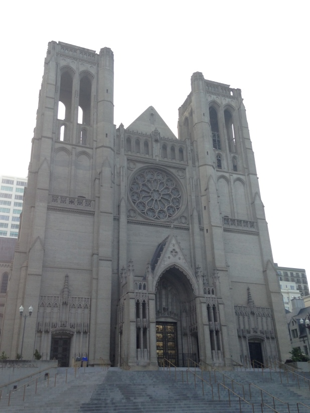 Grace Cathedral - The rose window that gave Burke flash backs. 1100 California Street.