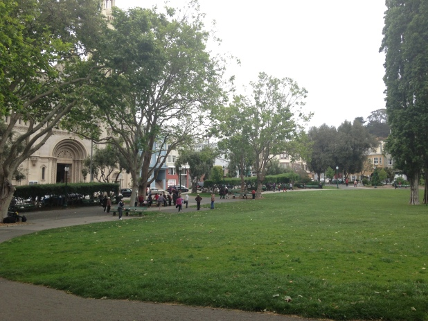 Washington Square park - a meeting location of Anna Madrigal and Edgar Halcyon. Cnr Columbus and union Street.