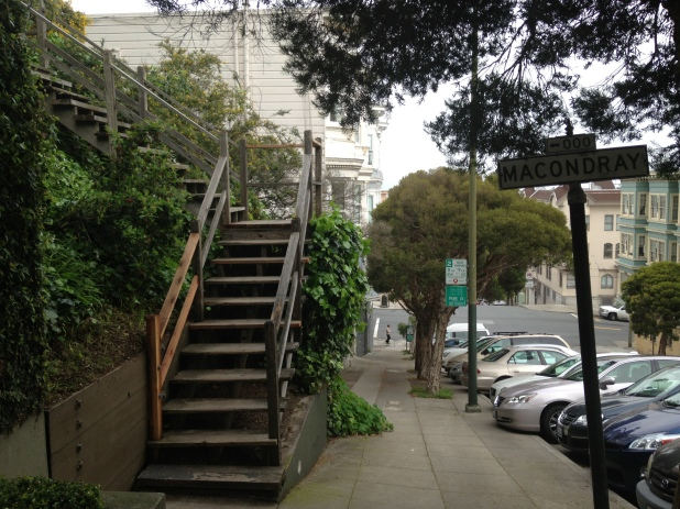 Macondray Lane steps - known as the 28 Barbary Lane steps.