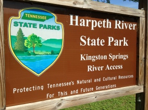 Harpeth River State Park sign.
