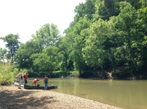 One of several picnic and rest stops along the Harpeth River.