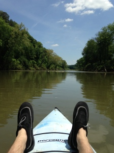 Just a lazy kayak paddle along the Harpeth River.