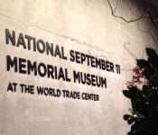 WTC memorial museum sign