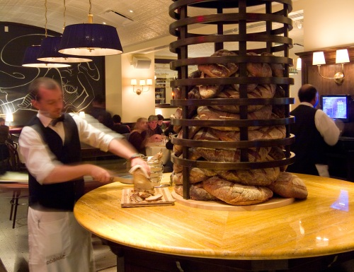 Cognac French Bakery bread tower - Image courtesy Cognac Restaurant
