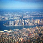 New York City skyline from the air, landing at LaGuardia Airport. Image: Jason Dutton-Smith