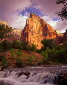 Zion National Park - Virgin River and Court of the Patriarchs
