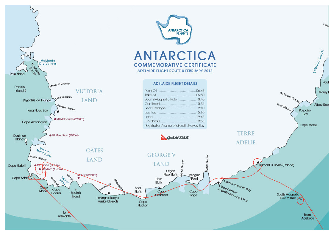 Antarctica By Air Flight Review – Images of the ice continent   More on
