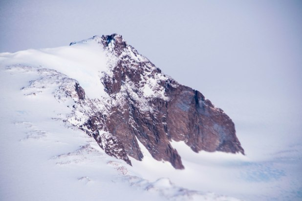 One of the many snow capped mountains of Antarctica. Only 2% of Antarctica is not covered in snow or ice.