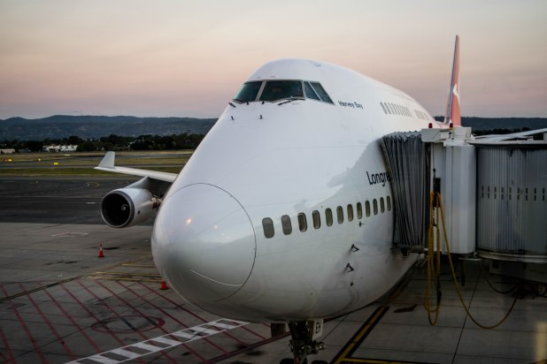 Our big bird; the mighty Qantas Boeing 747-400ER.