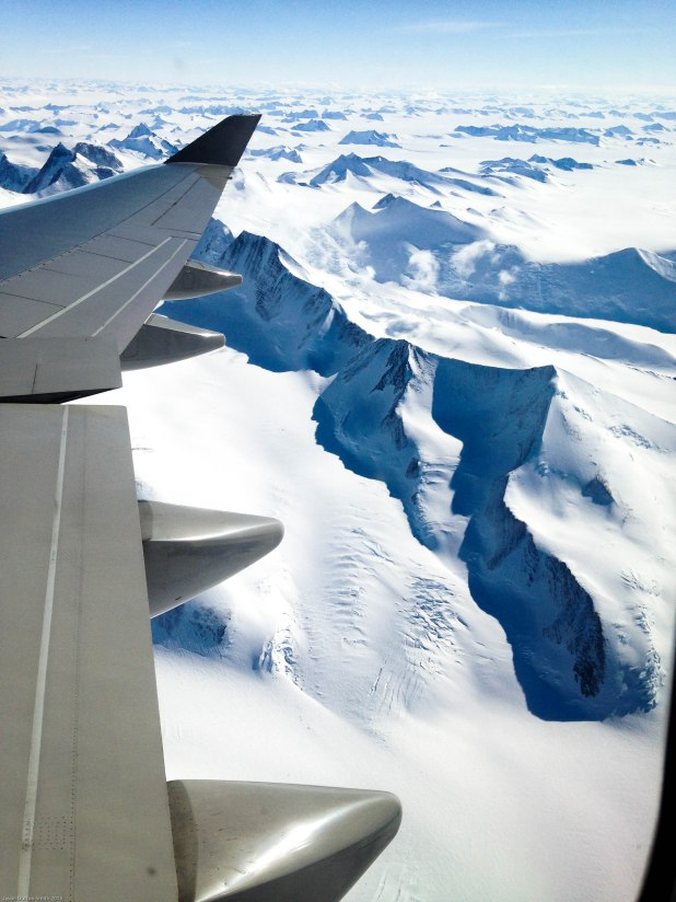 Highest mountain range in Antarctica soars just over 16,000 feet.