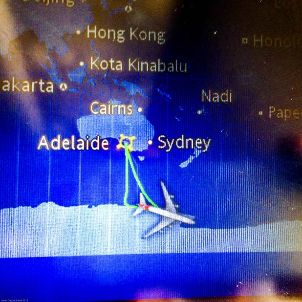 Our Antarctica flight route was direct south from Adelaide with 4.5 hours over the ice continent.