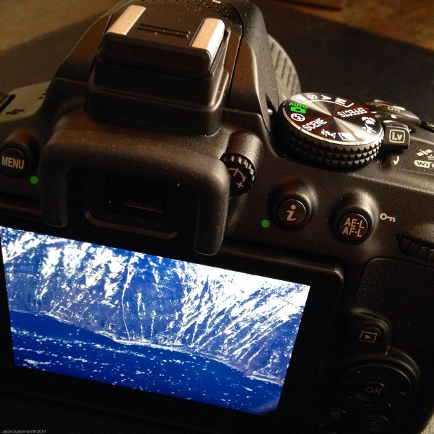 My new Nikon camera highlighting one of my favourite pictures of Antarctica.