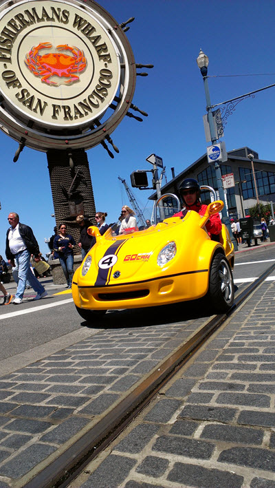 GoCar San Francisco Fisherman's Wharf. Image courtesy GoCar.