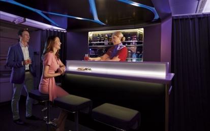 Virgin Australia Business Class Bar