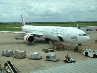 Virgin Australia 777-300ER at Brisbane Airport (Image: Jason Dutton-Smith)