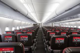 Qantas A380 Economy Cabin