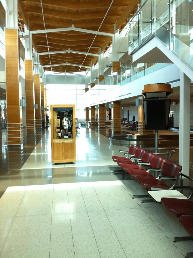Central Wisconsin Airport Baggage Claim Area. Image by Todd Sturm