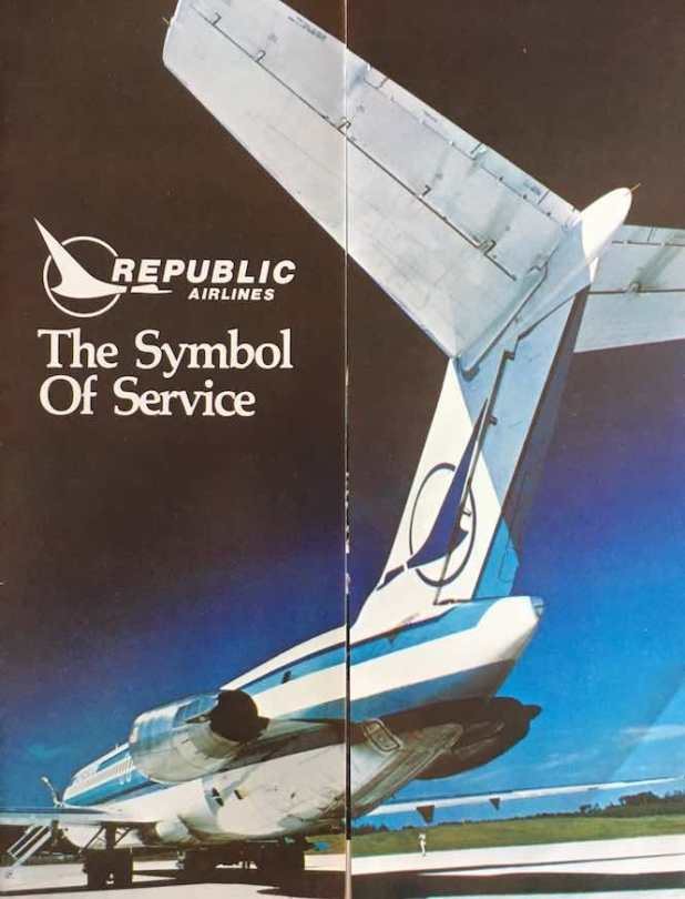 Herman the duck on a Republic DC-9 tail